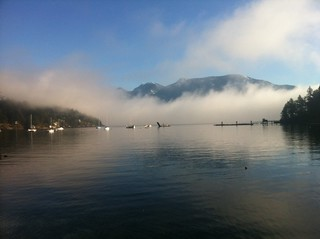 Fog in the Queen Charlotte Channel