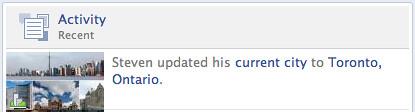 Facebook => Toronto