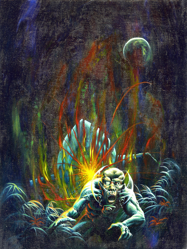 Kenneth Smith - Eerie Annual 1971 Cover (Warren, 1971).
