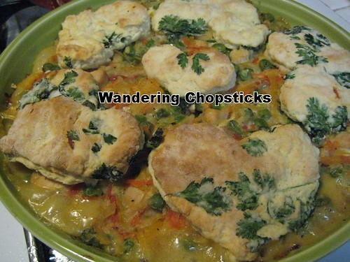 Chicken Pot Pie with Cilantro Biscuits 9