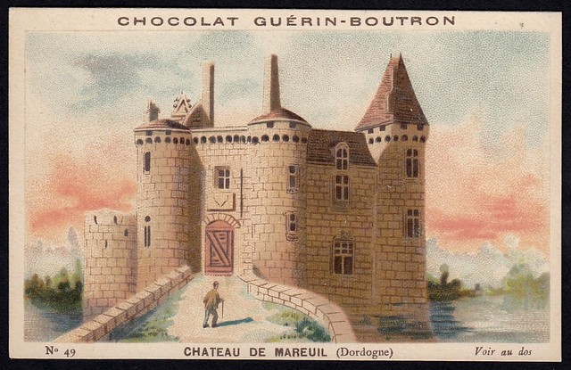 French Tradecard - Chateau de Mareuil