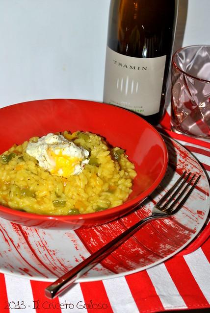 Risotto ai peperoni, zafferano e uovo (1)