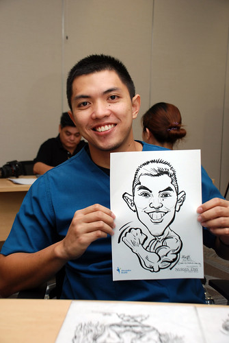 caricature live sketching for Khoo Teck Puat Hospital, Nurses' Day - 14