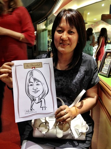 caricature live sketching for Au Chocolat Opening - 17