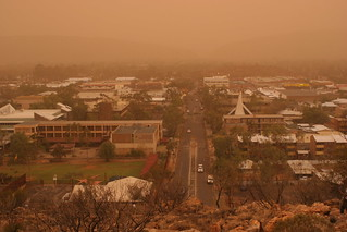 Dust Storm over Alice Springs