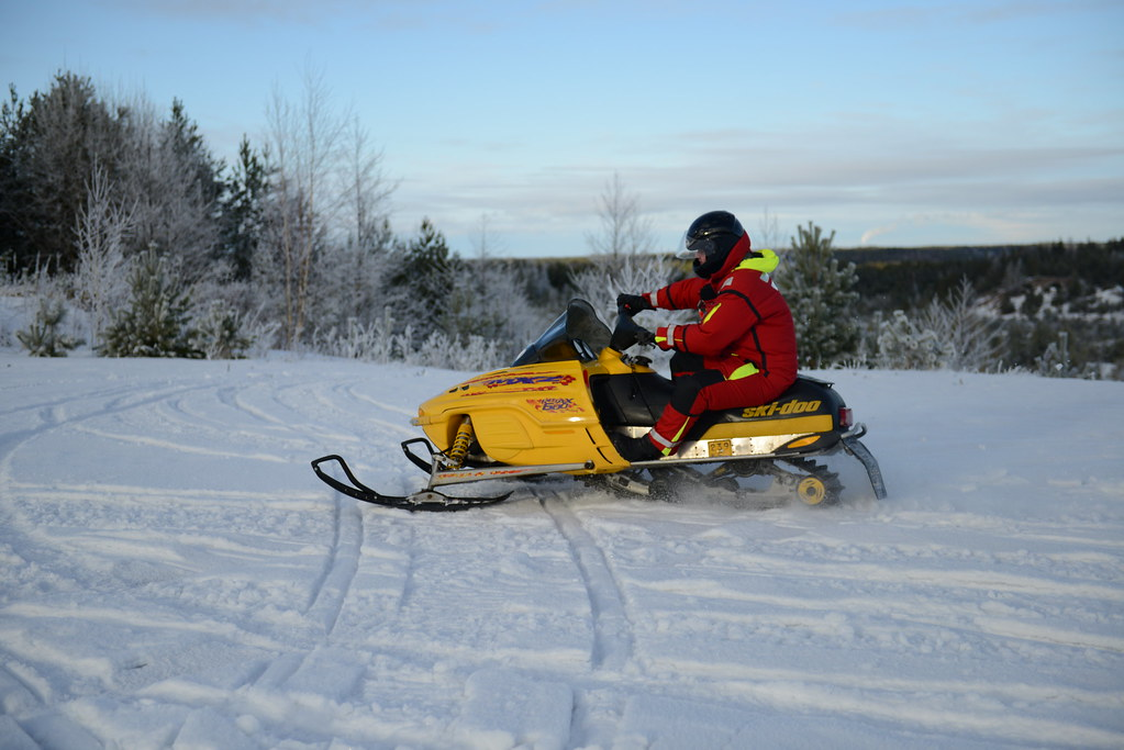 Snowmobiling in Turku