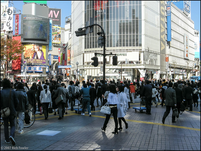 Shibuya-- World's Busiest Crosswalk