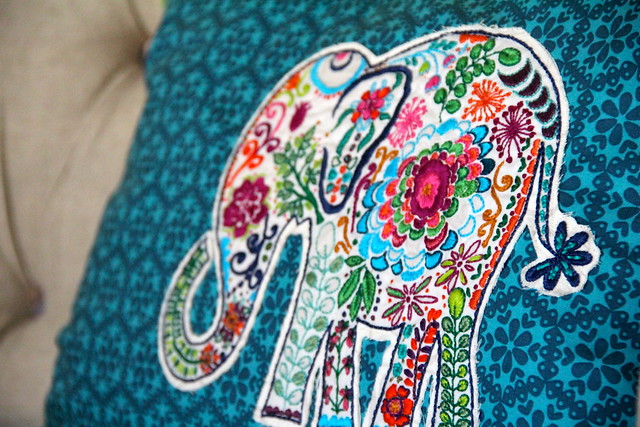 Elephant Embroidery