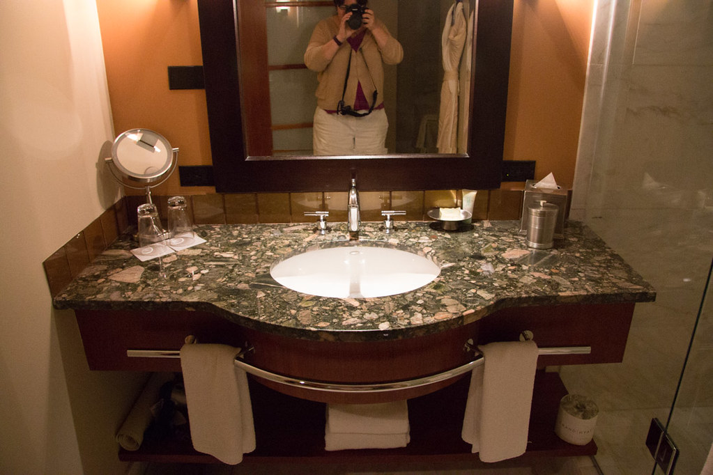 Bathroom at Grand Hyatt Seattle, 1 Bedroom King room