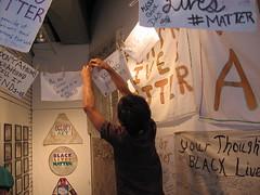 At Black Lives Matter Art Show