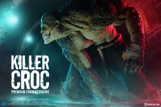 蝙蝠俠忠心的反派!!Sideshow Collectibles【殺手鱷】下水道之王!!Killer Croc 1/4 比例全身雕像