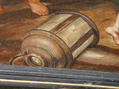Lantern, detail from ceiling painting. Heaven closet on master bedroom, Bolsover Little Castle c 1618-20