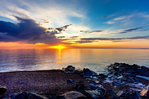sunset minnesota october unitedstates cloudy duluth