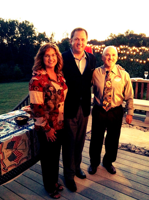 Dr. and Mrs. Mark Kemp hosted a wonderful evening reception in Burlington last week. Thank you for your hospitality.