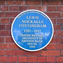 Photo of Lewis Nockalls Cottingham blue plaque