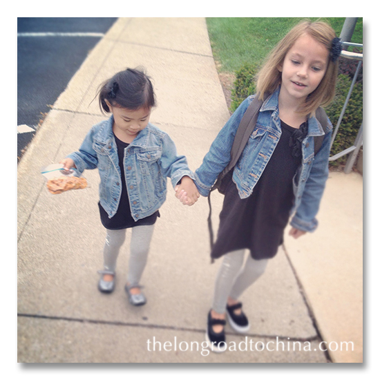 IG Sisters on teh way to school BLOG