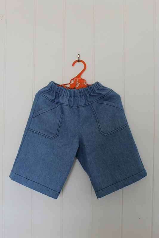 toddler denim shorts front