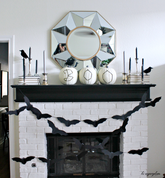 Halloween Mantel ~ Hi Sugarplum