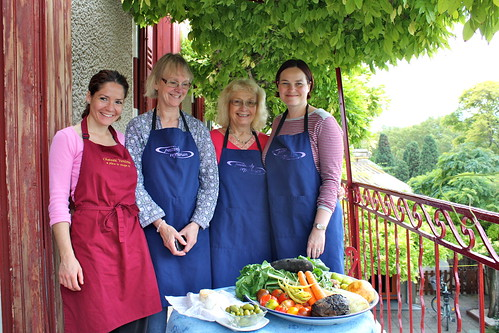 Elisa, Pam, Elizabeth & Helen with their market produce