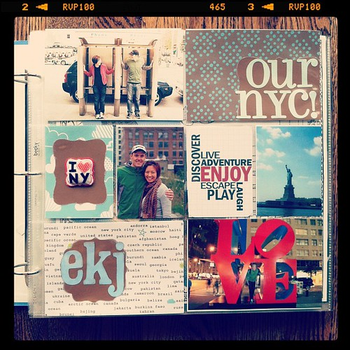 My NYC #projectlife album to document our years of trips! {title page, front}