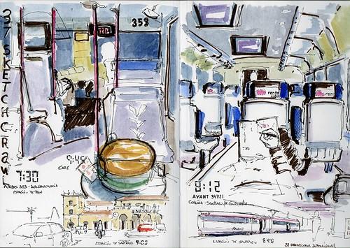 Viajando a Santiago para el Sketchcrawl