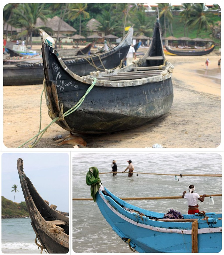 Kovalam fishing boats
