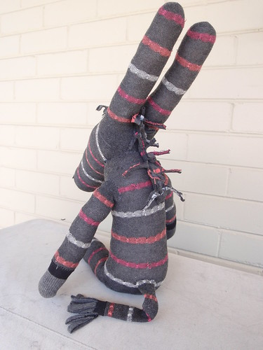 Delilah the Sock Donkey, back view