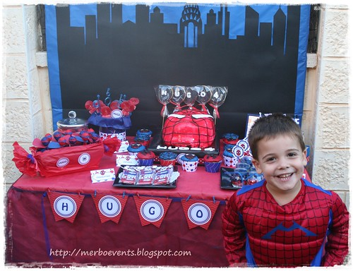 Per molts anys!  Kit de fiesta spiderman. Merbo events