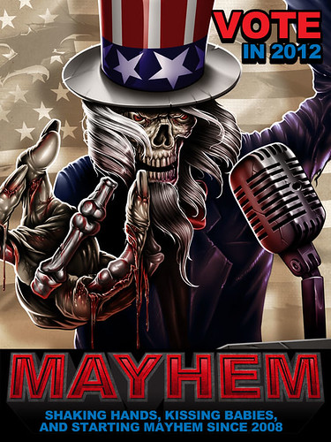VOTE MAYHEM ART