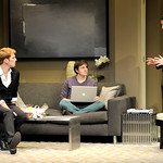 Grant MacDermott, Michael Goldsmith, and Ryan King in the Huntington's production of Christopher Shinn's political drama NOW OR LATER directed by Michael Wilson, playing Oct. 12 — Nov. 10. 2012 at the South End / Calderwood Pavilion at the BCA. Photo: Paul Marotta
