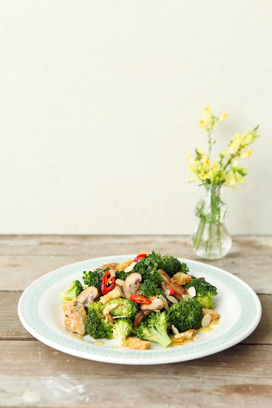 broccolislaatje met kip