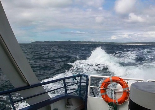 Waves in the wake of the Rathlin Island Express