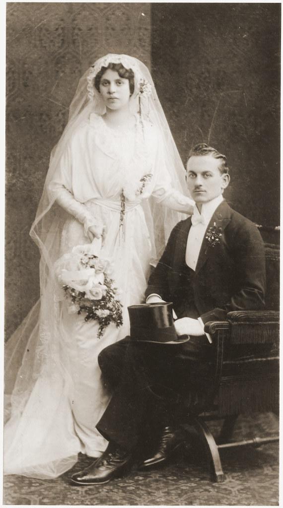 012---Wedding portrait of Elsa Schimmel and Max Spritzer. The wedding took place in the Seitenstettin synagogue in Vienna