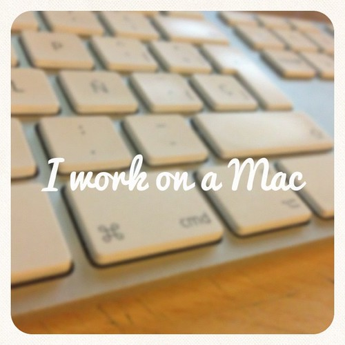 I work on a Mac #apple #mac