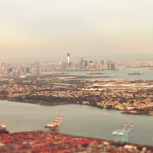 #nyc skyline. Next time, I wanna be on the ground looking up. #latergram #shuttersisters #instamuse #jersey