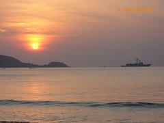 Sunset Patong beach, Phuket, Thailand - 3421