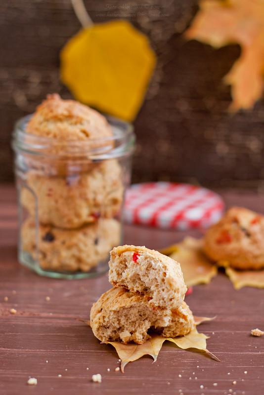 Pumpkin chocolate cherry cookies