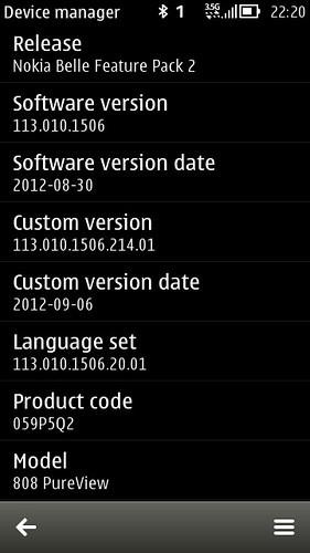 Nokia 808PV 113.010.1506