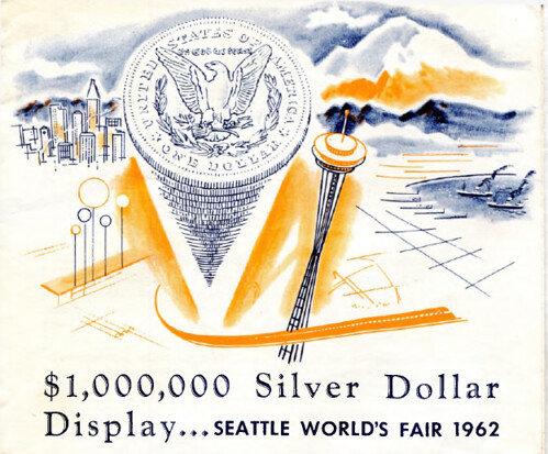 Silver Dollar display Seattle World's Fair 1962 a
