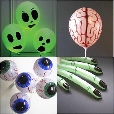 globos decorados para halloween