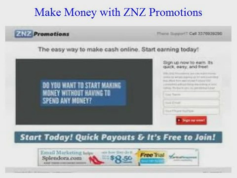 Make Money with ZNZ Promotions