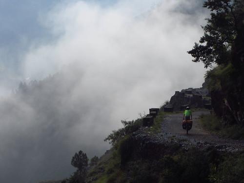 Descending from Sama, Uttarakhand