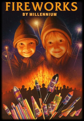 EPIC FIREWORKS - Guy Fawkes Night Nov 5th Firework Poster