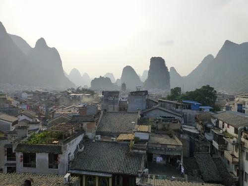 View over Yangshuo, China