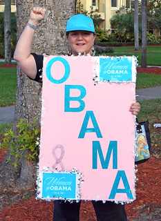 Madaleine is voting early for President Obama
