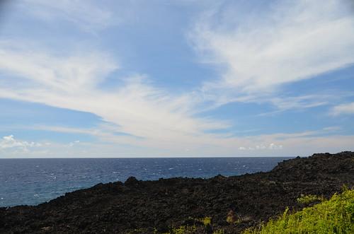 ocean sky water volcano hawaii lava coast puna hawaiʻi