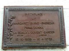 Photo of Margaret Burke-Sheridan bronze plaque