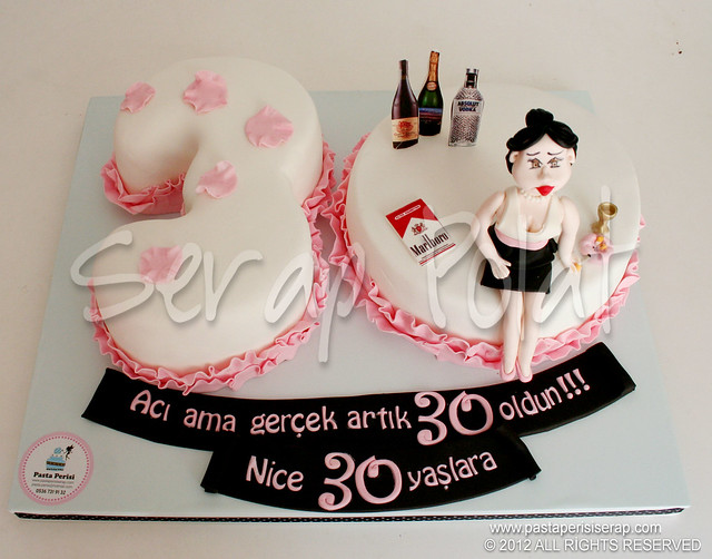 30 yaş pastası