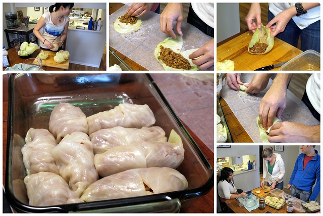 Cabbage Roll Making Party