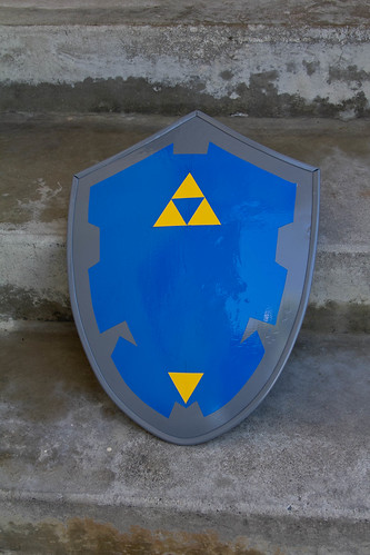 Hylian shield with triforce